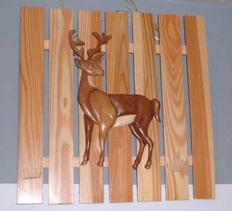 Wooden Picture Intarsia - Deer